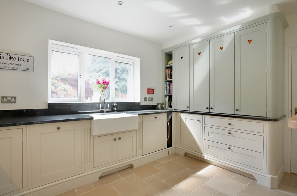 Cream Shaker Kitchen With Belfast Sink Duck Egg Kitchens