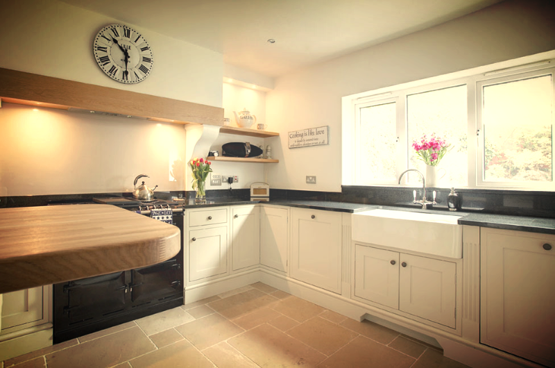 Shaker Kitchen With Belfast Sink Duck Egg Kitchens